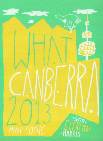 mini What Canberra printed cover